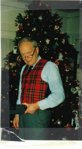 Dad in Royal Plaid